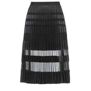 Bcbgmaxazria Taura Faux-Leather Pleated Skirt